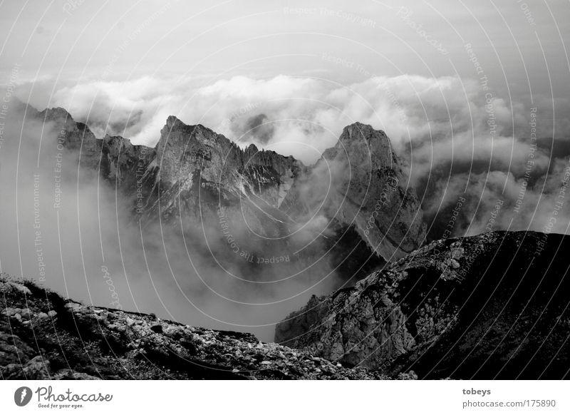 99: Teufelszacken Wolken Berge u. Gebirge Felsen Nebel hoch Alpen Gipfel Klettern tief Bayern Gott Schlucht Bergsteigen Tal Gletscher Vulkan