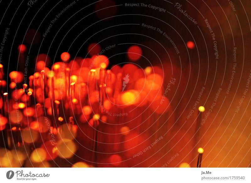 Rot sehen rot dunkel schwarz Wärme gelb Beleuchtung Lampe Stimmung orange glänzend leuchten Glas Kunststoff nah Belichtung Leuchtdiode