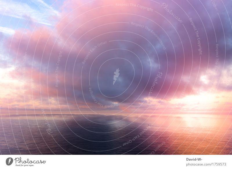 Wetterwechsel Kunst Künstler Kunstwerk Gemälde Natur Himmel Wolken Gewitterwolken Sonnenaufgang Sonnenuntergang Sonnenlicht Klima Klimawandel Schönes Wetter