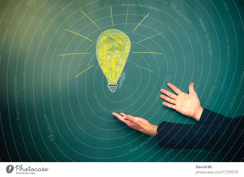 das ist die Idee Mensch Jugendliche Mann Hand Erwachsene Leben Lifestyle Kunst Business Schule Denken maskulin Erfolg lernen Studium Bildung