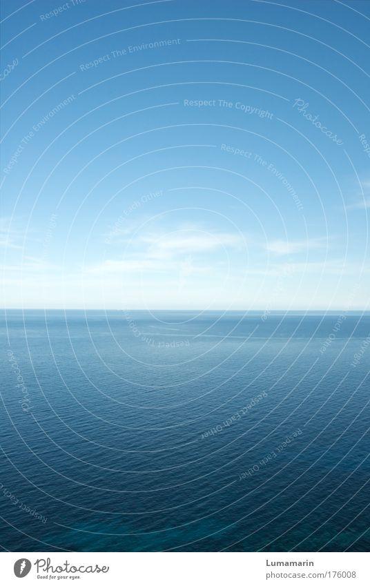 silence Ferien & Urlaub & Reisen Ferne Freiheit Landschaft Urelemente Wasser Himmel Horizont Sommer Klima Schönes Wetter Meer groß Unendlichkeit kalt blau