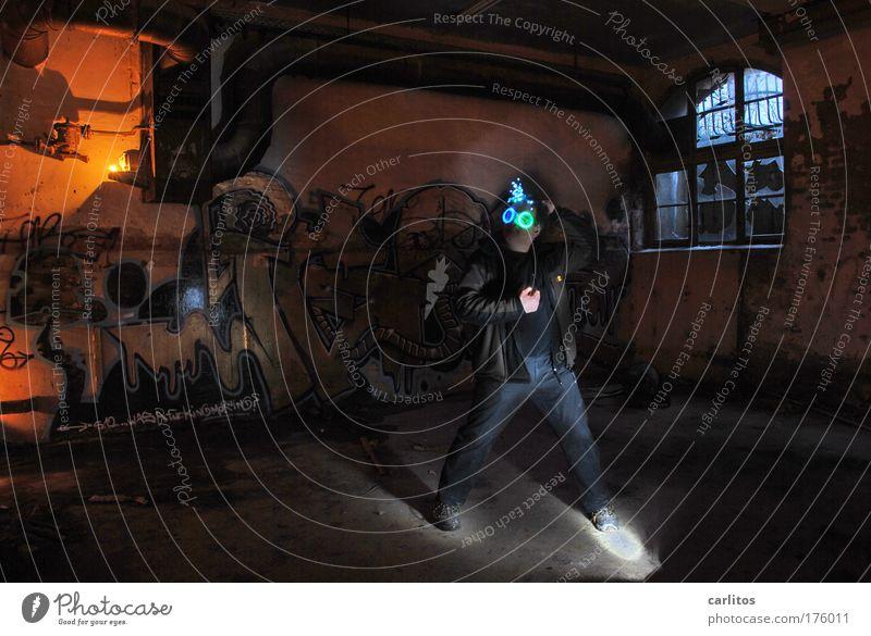 Sympathy for the ...... Licht Schatten Keller Industrie Ruine dunkel Einsamkeit Angst Teufel Hölle unheimlich Irrlicht verfallen Panik Lichtspiel Beleuchtung