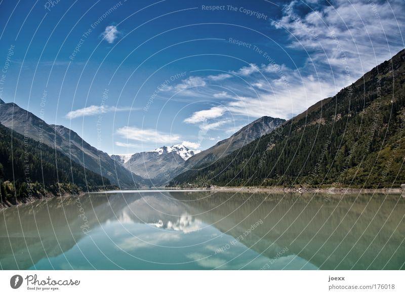 Spiegelportal Farbfoto Textfreiraum oben Textfreiraum unten Tag Reflexion & Spiegelung Weitwinkel Klettern Bergsteigen Natur Landschaft Wasser Himmel Wolken