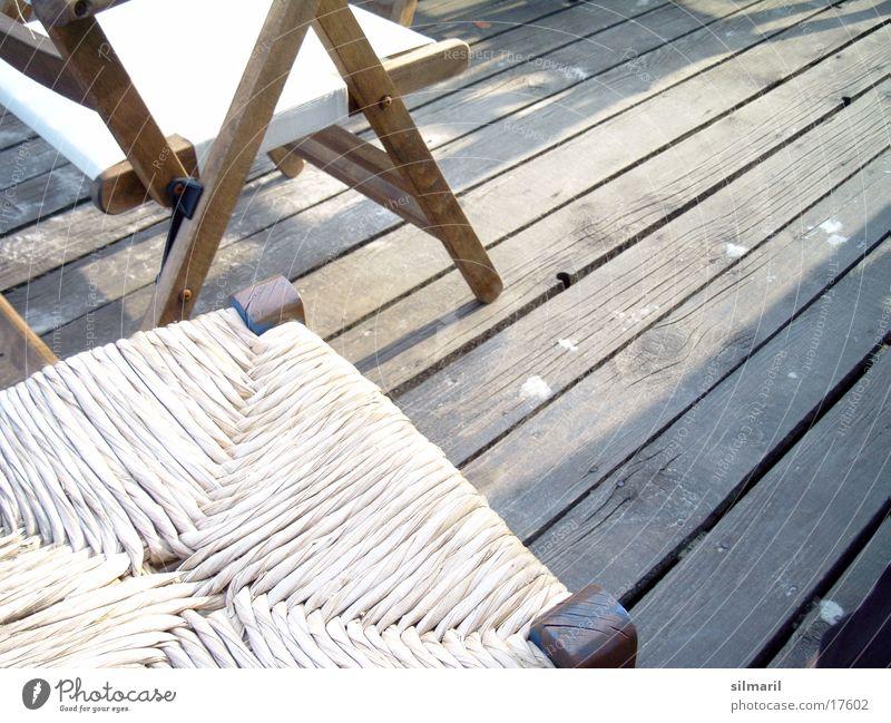 Stühle Ferien & Urlaub & Reisen Strandbar Restaurant Sommer Bast netzartig Holzfußboden Freizeit & Hobby sitzen