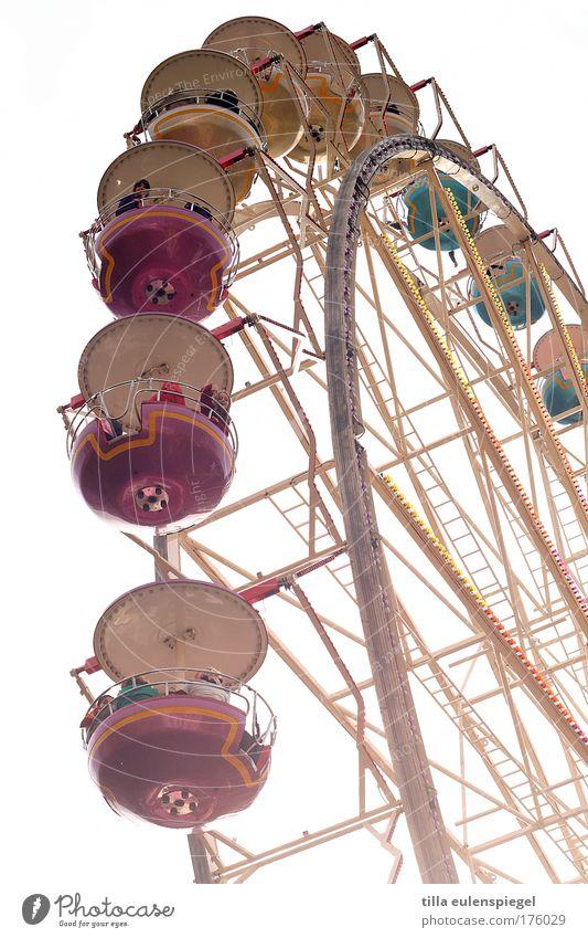 ( Freude Leben Kindheit Freizeit & Hobby Fröhlichkeit genießen drehen Jahrmarkt Weimar Erinnerung Riesenrad Vergnügungspark Thüringen Fahrgeschäfte