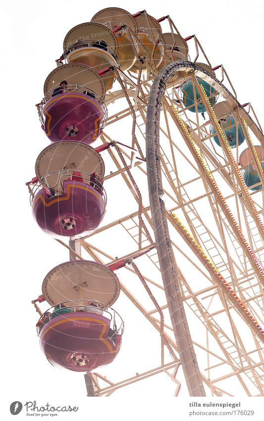 ( Freude Leben Kindheit Freizeit & Hobby Fröhlichkeit genießen drehen Jahrmarkt Weimar Erinnerung Riesenrad Vergnügungspark Thüringen Fahrgeschäfte Weimarer Zwiebelmarkt