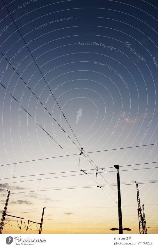 Connected. Mensch Himmel Linie Ordnung Verkehr Energie Elektrizität Telekommunikation Güterverkehr & Logistik Kabel Netzwerk Ende Wirtschaft Verbindung
