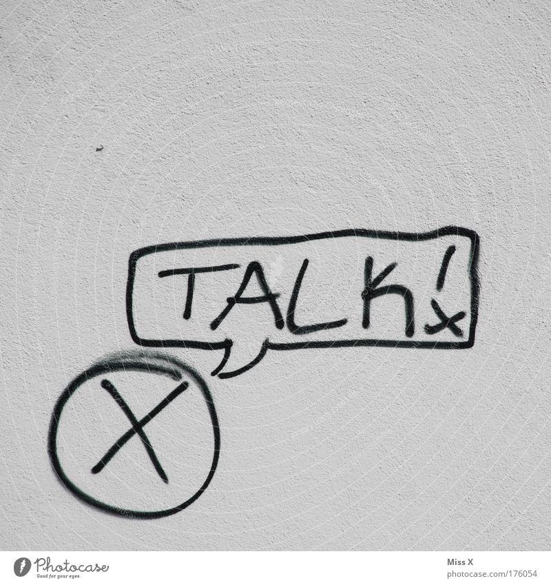 Mr. X packt aus Haus Wand sprechen Graffiti Mauer Kraft Schriftzeichen Zeichen entdecken Fernsehen Ärger Demonstration Wahrheit sprühen Akzeptanz Befehl