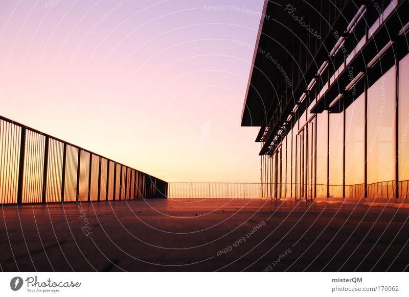 Perfektion. Mensch ruhig Ferne Erholung Haus hell Raum Architektur Glas Design Fassade Perspektive modern Zukunft Aussicht Reflexion & Spiegelung