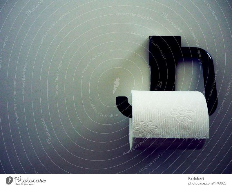 einfach. alles. weiß schwarz Wand Mauer Stil Zufriedenheit Design Papier Reinigen Sauberkeit Bad Kunststoff Toilette Wohlgefühl Körperpflege Rolle