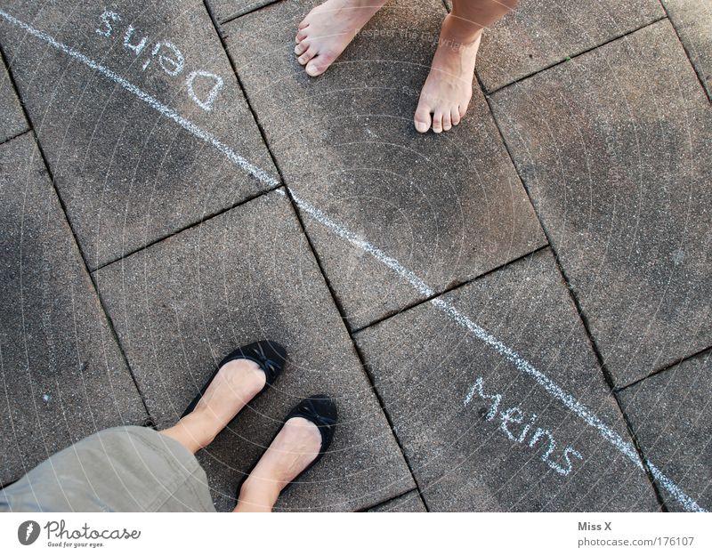 Scheidung ! ! ! Mensch Frau Mann Politik & Staat Einsamkeit Erwachsene Leben Gefühle Wege & Pfade Beine Paar Fuß Familie & Verwandtschaft kaputt Ende Wut