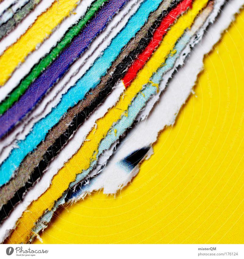 Bastelstunde. Farbe Muster abstrakt Design verrückt Detailaufnahme Nahaufnahme Papier modern ästhetisch Makroaufnahme Niveau Werkstatt einzigartig trashig