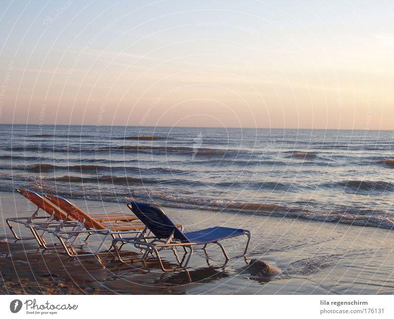 raum zum träumen Wasser Himmel Meer Sommer Strand Ferien & Urlaub & Reisen ruhig Ferne Erholung Freiheit Wellen Horizont Schönes Wetter Nordsee harmonisch