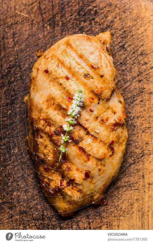 Gebratene Hähnchenbrust Lebensmittel Fleisch Kräuter & Gewürze Ernährung Mittagessen Abendessen Festessen Stil Design Gesunde Ernährung Küche Grill Protein