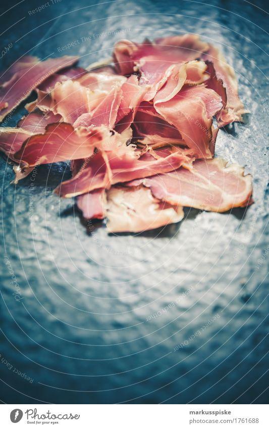 parmaschinken Lebensmittel Fleisch Wurstwaren Schinken Parmaschinken Ernährung Essen Mittagessen Abendessen Büffet Brunch Picknick Slowfood Fingerfood