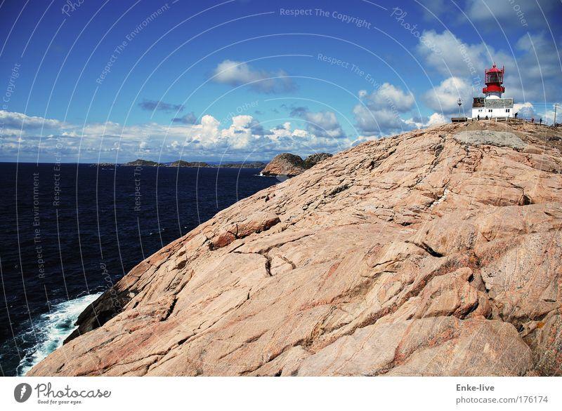 Lindesnes 2 Farbfoto mehrfarbig Außenaufnahme Luftaufnahme Menschenleer Textfreiraum links Textfreiraum rechts Textfreiraum oben Textfreiraum unten