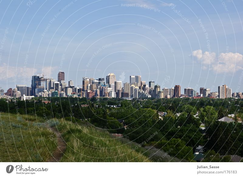 Skyline Himmel Natur Stadt Wolken Umwelt Landschaft Hochhaus Kanada Calgary Calgary Tower