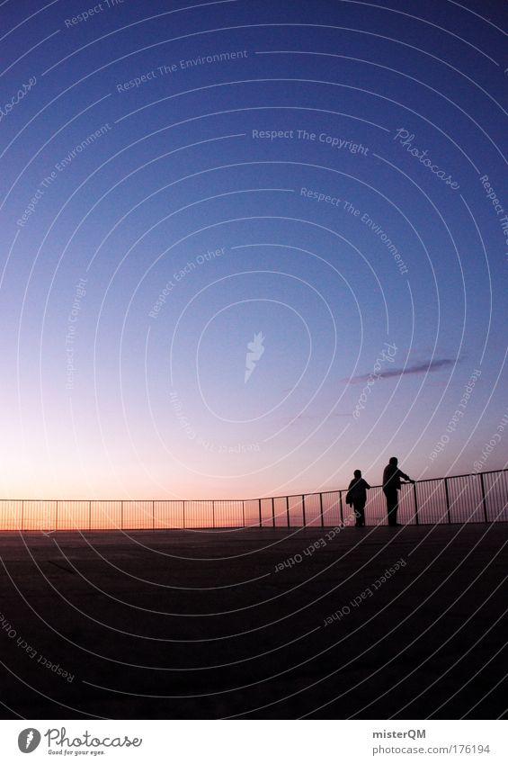 Dach der Welt. Himmel Ferien & Urlaub & Reisen ruhig Erholung dunkel Architektur Paar Zeit Design modern Zukunft einzigartig Romantik Sitzung Ostsee Partnerschaft