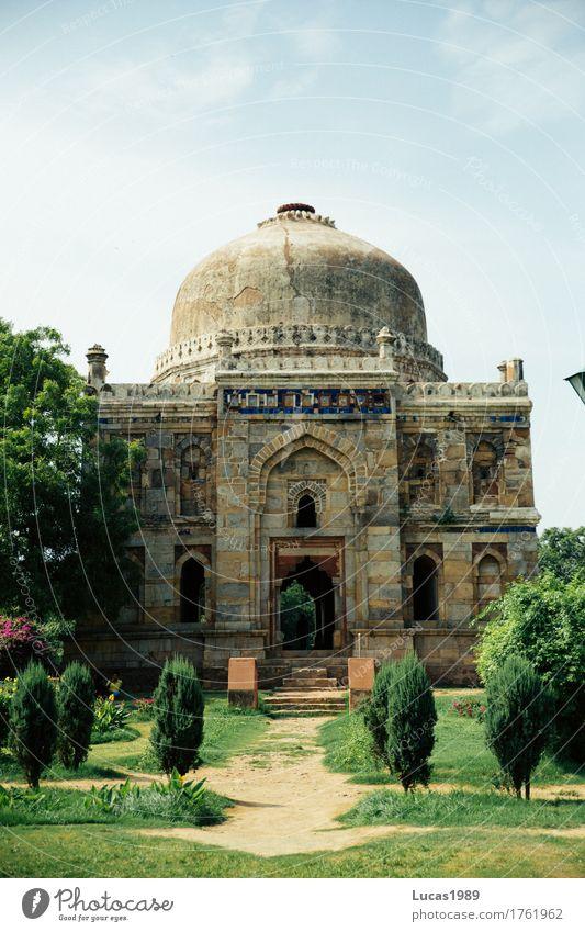 Mausoleum Ferien & Urlaub & Reisen Tourismus Abenteuer Ferne Sightseeing Städtereise Delhi Indien Bauwerk Gebäude Architektur Grabmal Park Garten