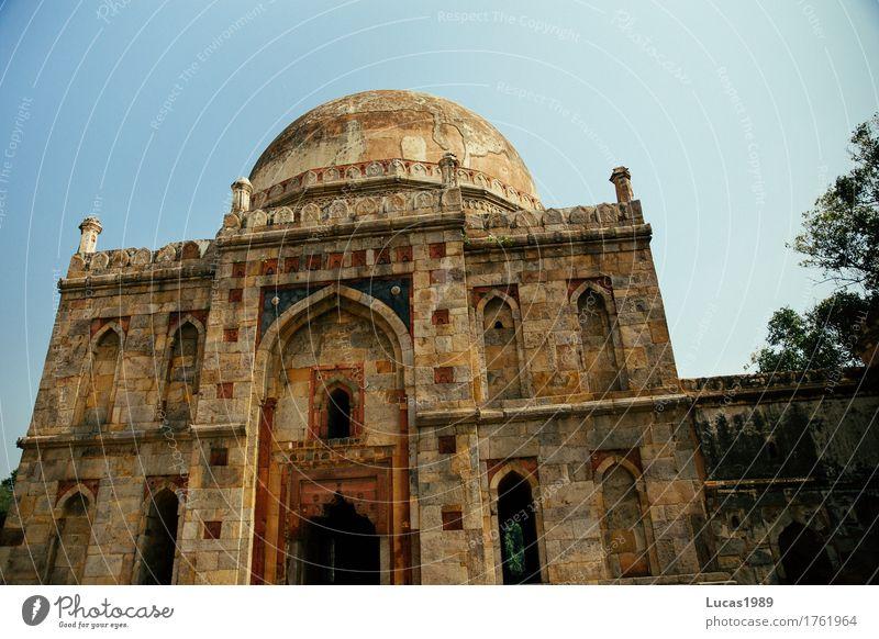Bara-Gumbad, Delhi, India Ferien & Urlaub & Reisen alt blau Ferne gelb Architektur braun Tourismus Park Ausflug gold historisch Glaube Bauwerk Asien