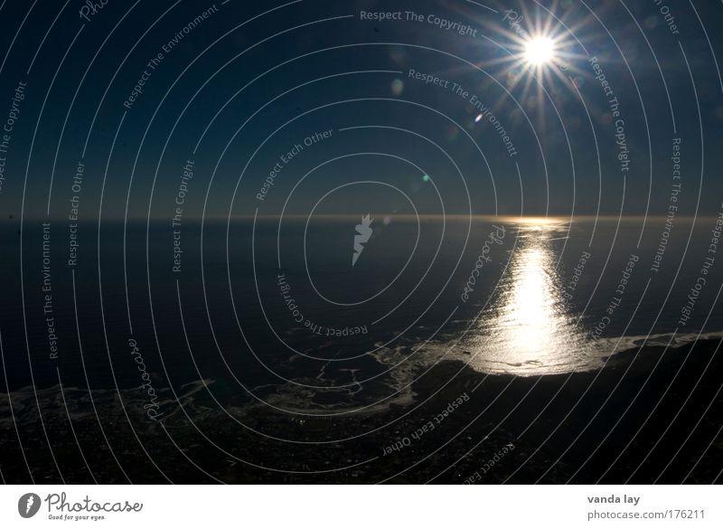 Sundown Natur Wasser Himmel Sonne Meer Sommer Strand Ferien & Urlaub & Reisen Ferne Freiheit Wärme Landschaft Umwelt groß Energie heiß