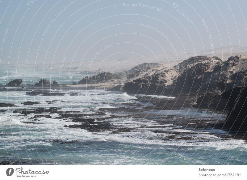 Küste Natur Ferien & Urlaub & Reisen Sommer Wasser Meer Landschaft Erholung ruhig Ferne Strand Umwelt Tourismus Horizont Zufriedenheit Wellen