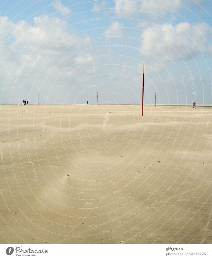 spießrutenlauf Mensch Himmel Sonne Meer Sommer Freude Strand Ferien & Urlaub & Reisen Wolken Erholung Sand Landschaft Zufriedenheit Küste Ausflug