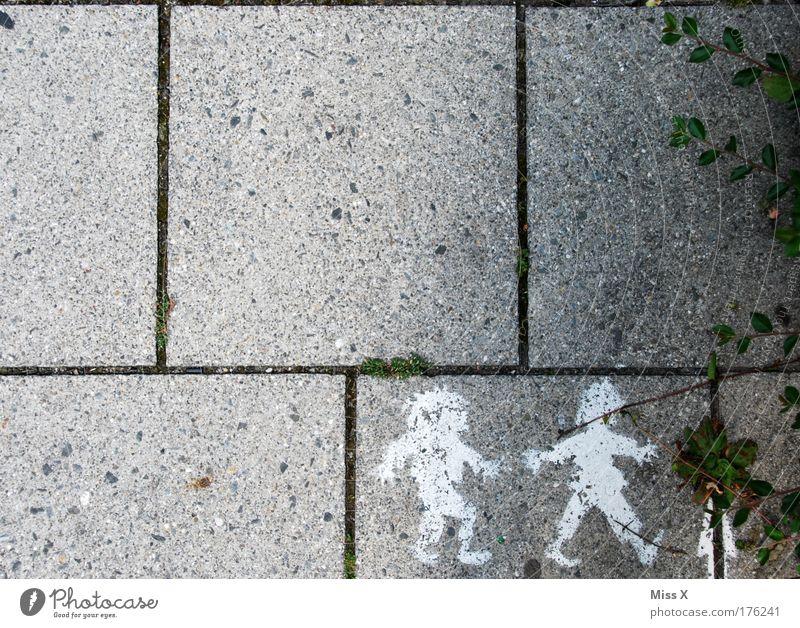 Schnell ins Eck Mensch Pflanze Familie & Verwandtschaft Freude Straße Graffiti Junge Wege & Pfade Garten Freundschaft Kindheit gehen Ausflug Fröhlichkeit