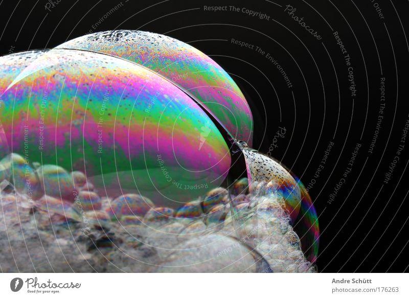 Planet Soap III schwarz nass Blase Körperpflege Seifenblase Schaum Seife Schaumblase regenbogenfarben Schaumberg