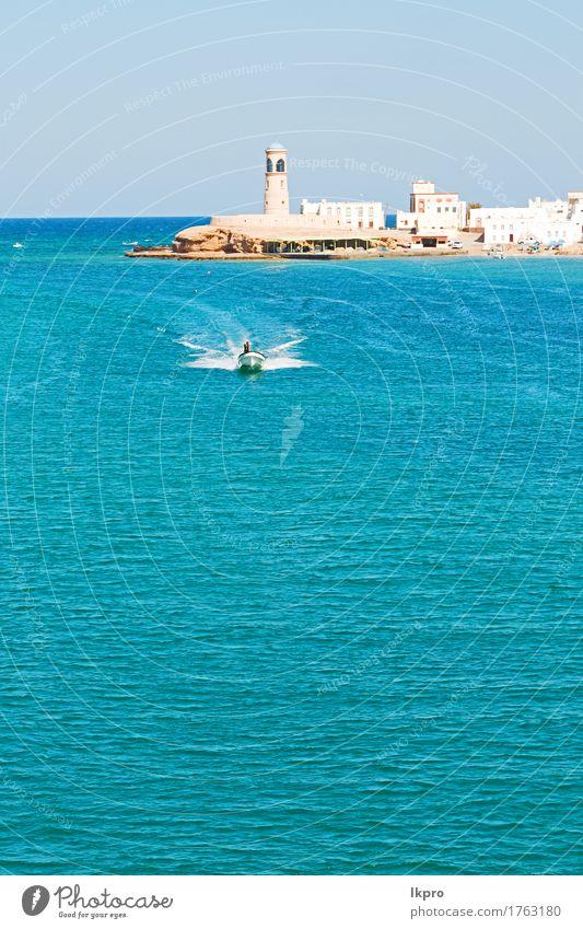 In Oman Muscat der alte defensive Seeberg Ferien & Urlaub & Reisen Tourismus Meer Berge u. Gebirge Hügel Felsen Kleinstadt Stadt Burg oder Schloss Gebäude