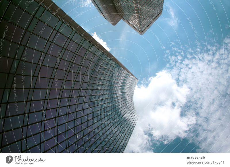 Vergleichen führt zu Enttäuschungen und ... blau Stadt Wolken Business Kraft Architektur Erfolg Perspektive Wachstum Wandel & Veränderung Stress Frankfurt am Main Kontrolle Aggression