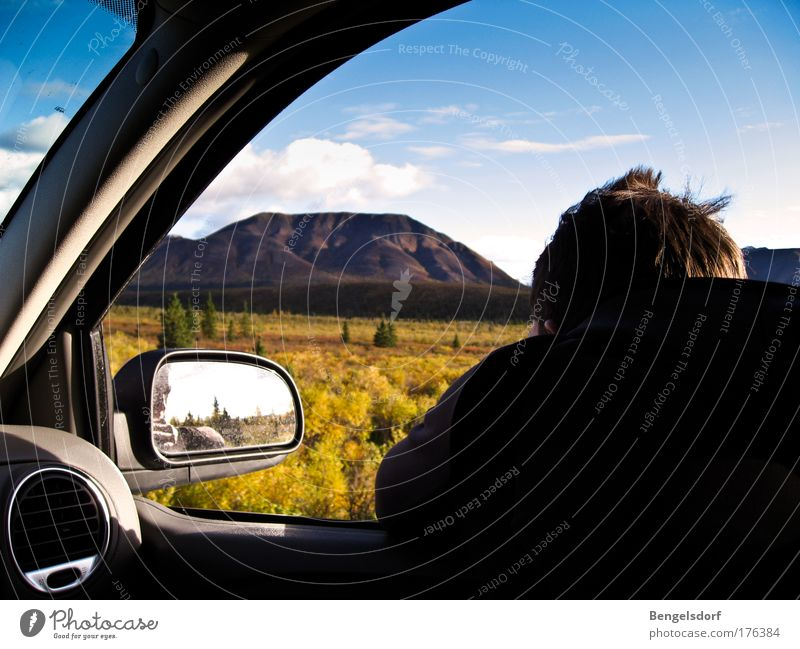 Fernweh - Patagonia Mensch Natur Ferien & Urlaub & Reisen Wolken Ferne Berge u. Gebirge Freiheit Traurigkeit PKW Landschaft wandern Ausflug Abenteuer Tourismus