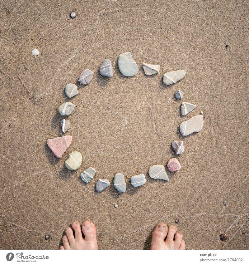 Das O muss ins Eckige Ferien & Urlaub & Reisen Meer Strand Umwelt Liebe Religion & Glaube Gesundheit Stein Schwimmen & Baden See Sand Design Erde Kreis Zeichen