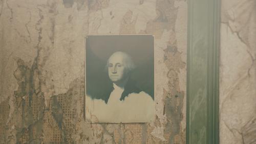first president Zeichen Reichtum USA George Washington Präsident Amerika Stars and Stripes Tapete Tapetenmuster Tapetenwechsel Bild Fotografie Wand Balken alt