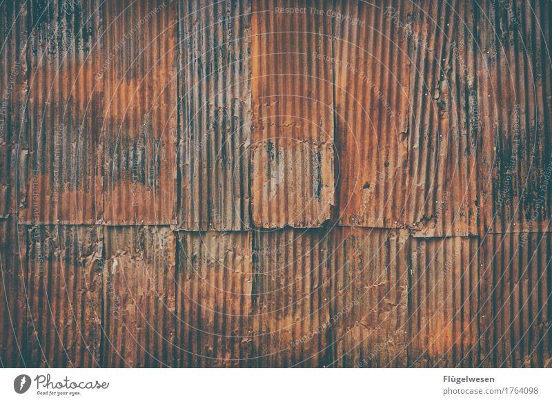 Blechwand Stadt alt Haus Wand Innenarchitektur Spielen Mauer Metall Wohnung Raum Häusliches Leben Freizeit & Hobby retro berühren Umzug (Wohnungswechsel) Holzbrett