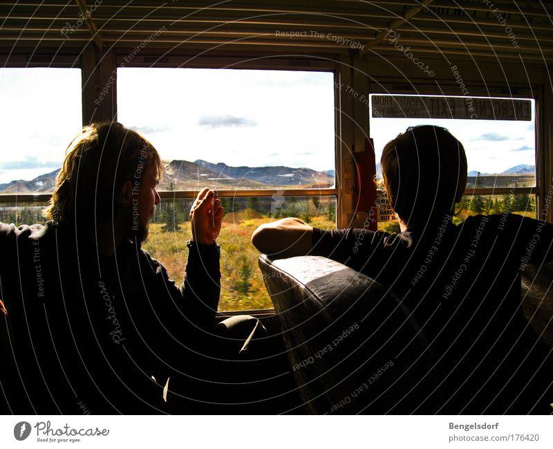 Wildnis hinter Glas - Alaska Mensch Ferien & Urlaub & Reisen Ferne Gras Berge u. Gebirge Freiheit Landschaft wandern Bus Ausflug Sicherheit Abenteuer fahren Tourismus Sträucher Schutz