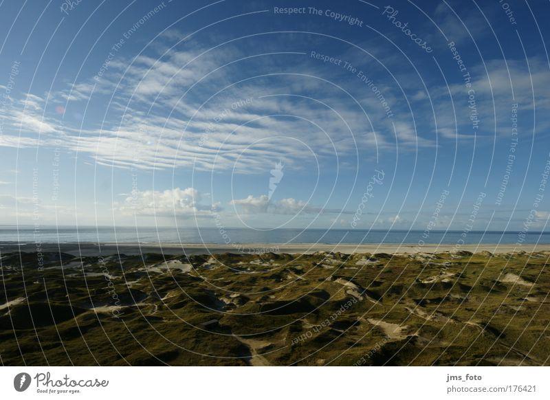Sommerwolken über Amrum Natur Wasser blau Ferien & Urlaub & Reisen Wolken Landschaft braun Küste Insel Hügel Schönes Wetter Nordsee Fernweh