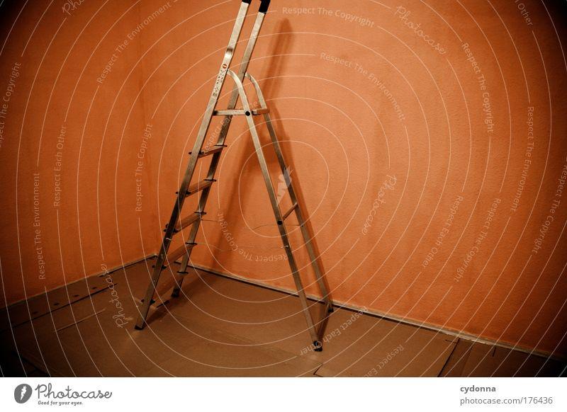 Renovierungsarbeit ruhig Farbe Leben Wand Gefühle Freiheit träumen Traurigkeit Mauer orange planen Wohnung Design Zukunft Wandel & Veränderung Häusliches Leben