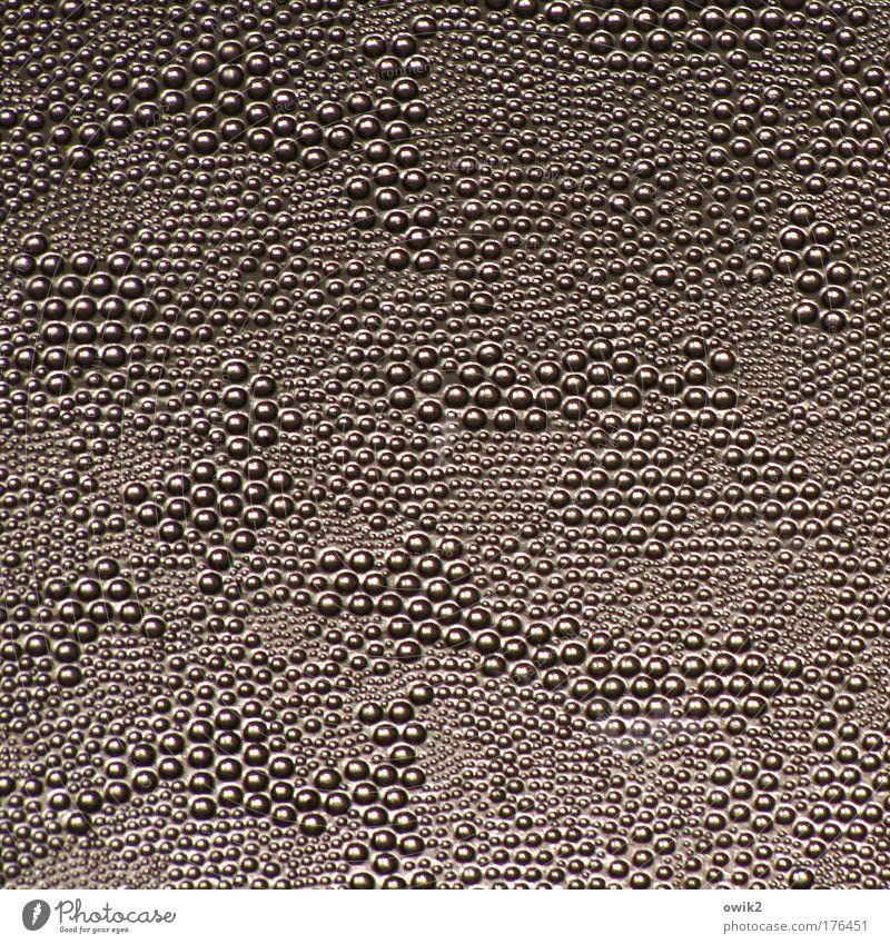 Glasblasen weiß schwarz braun Punkt fest Muster viele abstrakt Anhäufung hart dezent Glasscheibe Lichteinfall durchscheinend