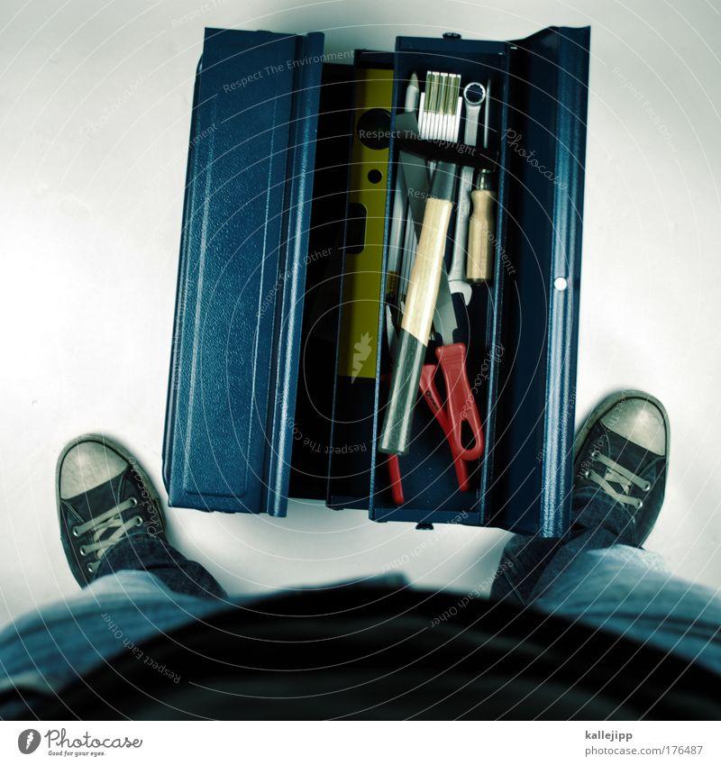 männersachen Mensch Mann Haus Arbeit & Erwerbstätigkeit Beine Erwachsene Fuß Freizeit & Hobby Wohnung Design maskulin Lifestyle Innenarchitektur Häusliches Leben Baustelle Technik & Technologie
