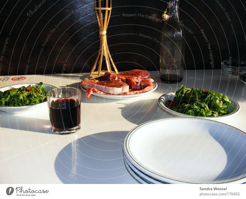 """""""Frischfleisch"""" Sommer Erholung rot ruhig Lebensmittel rosa frisch Glas Glas Ernährung einfach einzigartig Kunststoff Wein Wohlgefühl Flüssigkeit"""