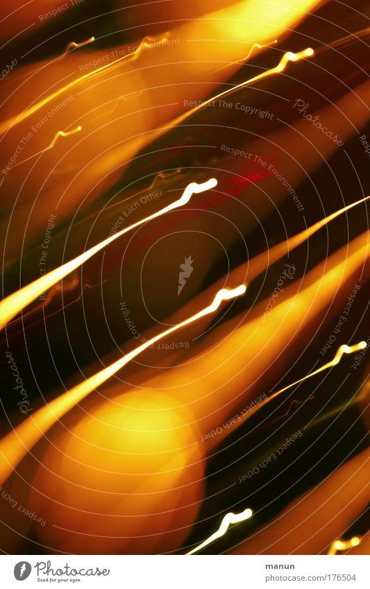 Leuchtfeuer gelb Stil außergewöhnlich Kunst braun gold glänzend Design leuchten modern Energie Kreativität Gemälde Anstreicher Kunstwerk Optimismus
