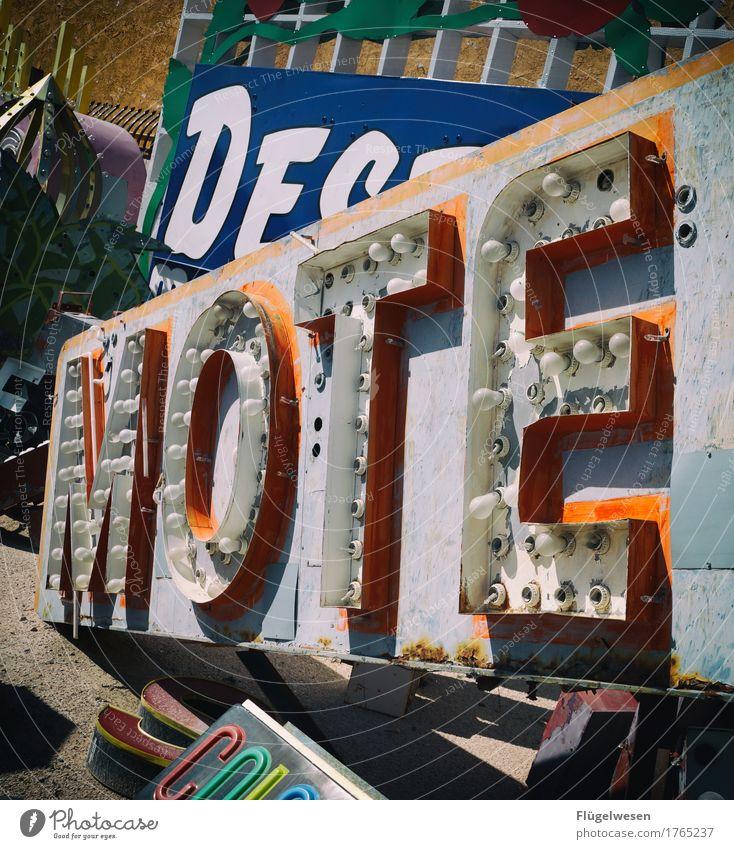 DJ Mote Lampe Werbebranche Schriftzeichen alt Beleuchtung leuchten Farbe Farbstoff Werbung Neonlicht Leuchtreklame Buchstaben Leuchtbuchstabe Werbeschild werben
