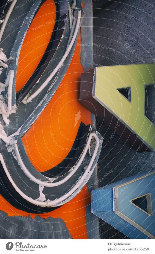 eAA Lampe Werbebranche Schriftzeichen alt Beleuchtung leuchten Farbe Farbstoff Werbung Neonlicht Leuchtreklame Buchstaben Leuchtbuchstabe Werbeschild werben