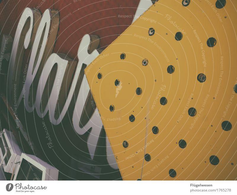 Alles Clar Lampe Werbebranche Schriftzeichen alt Beleuchtung leuchten Farbe Farbstoff Werbung Neonlicht Leuchtreklame Buchstaben Leuchtbuchstabe Werbeschild