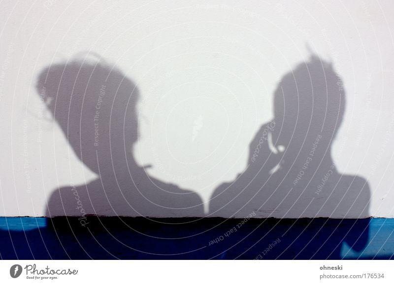 Siamesische Zwillinge Mensch Frau Mann Jugendliche blau Ferien & Urlaub & Reisen weiß Sommer Erwachsene Freiheit Haare & Frisuren Kopf Paar hell 18-30 Jahre