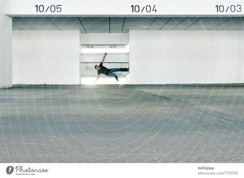 groundcontrol Mensch Mann Haus Erwachsene Fenster Wand Mauer Beine hell Arme Freizeit & Hobby maskulin Schriftzeichen Lifestyle Boden Ziffern & Zahlen