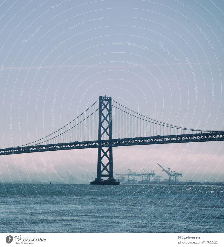 San Francisco Ferien & Urlaub & Reisen Wasser Erholung Ferne Freiheit Tourismus Wasserfahrzeug Ausflug USA Abenteuer Brücke Amerika entdecken Skyline