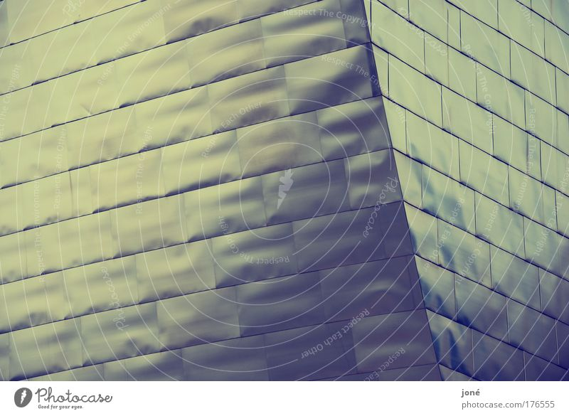 oberflächlich blau ruhig gelb Wand Architektur Mauer modern ästhetisch außergewöhnlich Gelassenheit Oberfläche geduldig gigantisch