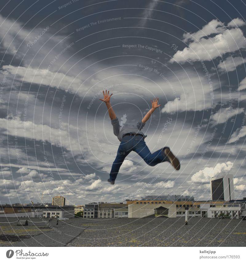 9:58 SEC Farbfoto Gedeckte Farben Außenaufnahme Textfreiraum oben Tag Schatten Kontrast Silhouette Bewegungsunschärfe Froschperspektive Totale Rückansicht